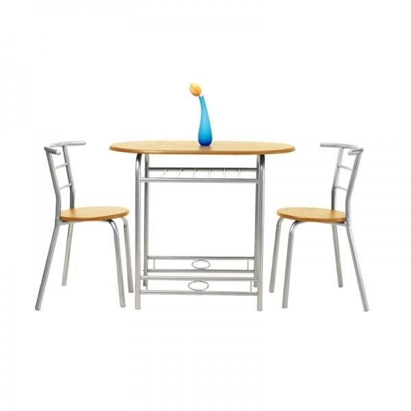 3 pieces metal kitchen table set with 2 chairs of kindiy
