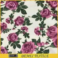 tropical print fabric patterns decorative with hight quality products printed canvas