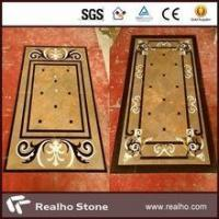 imperial gold marble inlay flooring design