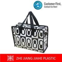 Wholesale White mixed black non woven zipper tote bags from china suppliers