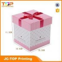 Wholesale Wholesale recycled paper box / Ribbon rigid cardboard gift box from china suppliers