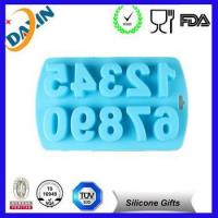 Wholesale novelty silicone number ice cube tray/ reusable chocolate mold from china suppliers