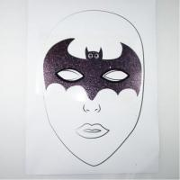 Wholesale Halloween cartoon Batman glitter temporary face tattoos with acrylic rhinestone from china suppliers