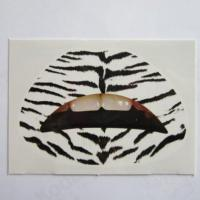 Wholesale Custom fashion sexy zebra temporary lip tattoo water transfer from china suppliers