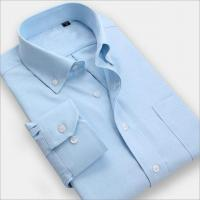 Wholesale Men Shirt Men wear solid color long-sleeved business shirt iron shirts from china suppliers