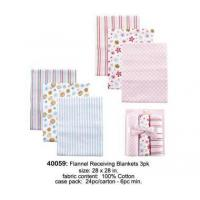 China Bedding flannel receiving blankets 3pk wholesale