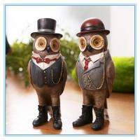Wholesale vintage owl small resin figurine from china suppliers