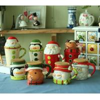 Wholesale novelty Christmas gifts mug,ceramic mug for Christmas day,500ml ceramic cup with lid---MM005 from china suppliers