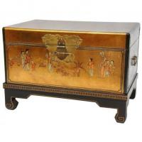 Wholesale Fine Lacquer Furniture Gold Leaf Small Trunk from china suppliers