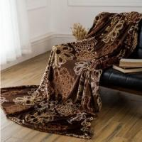 China Brown Hollow Out Pattern Printed Flannel Blankets Blankets & Throws wholesale