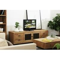 China Living room industrial reclaimed wood natural TV cabinet wholesale
