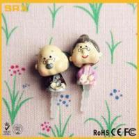 Wholesale 2 pcs 3.5mm Earcap Anti-dust Plug,CUSTOM Cartoon Grandpa & Grandma Lover For Cell Phone manufacturer from china suppliers