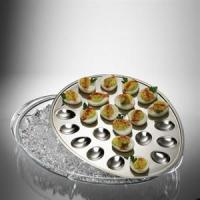 YK-A112 eggs stay fresh and pretty on stainless steel ice tray YK-A112