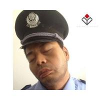 Wholesale Modern People Wax Figure Sleepy Security Man from china suppliers