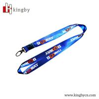 Wholesale custom made heat transfer printing nylon lanyard from china suppliers
