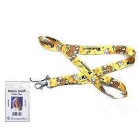 Wholesale Rilakkuma Bear Lanyard Keychain with Clear Badge Holder from china suppliers
