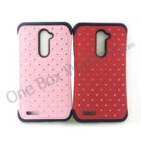 Wholesale Crystal Bling Hybrid Armor Case Cover For ZTE Zmax Pro Z981 Z988 from china suppliers