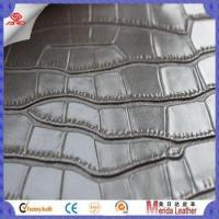China High gloss woven crocodile embossing leather fabric wholesale for furniture in Merida on sale