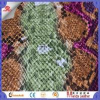 Wholesale Camouflage snake skin design faux leather fabric for shoes in China product from china suppliers