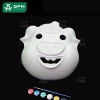 Wholesale White DIY Painting Paper Mache Mask(Piggy) from china suppliers