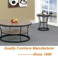 Wholesale New Style Hot Selling Small Round Wood Coffee Tables Rustic Style from china suppliers