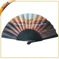 customised wood hand fans with 16 wooden ribs