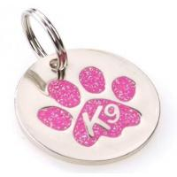 Wholesale K9 Paw Glitter Pink Identity Tag from china suppliers