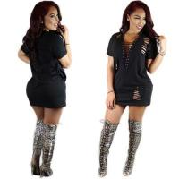 Wholesale Solid Black Women Fashion Casual Mini Dress CM9655 #CM9655 from china suppliers