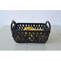 novelty black porcelain fruit basket