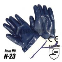 Wholesale Cotton Nitrile Industrial Gloves, Fully Coated, Safety Cuff from china suppliers