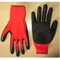 Wholesale high quality popular polyester liner latex coated working glove from china suppliers