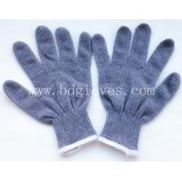 China Grey cotton knitted glove wholesale