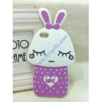 Wholesale Cartoon shy rabbit silicone phone covers from china suppliers