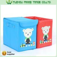 Wholesale Cute cartoon foldable Non Woven fabric toy kids storage box from china suppliers