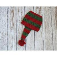 Wholesale Christmas stocking hat for baby, cotton hat in red and green, crochet hat from china suppliers