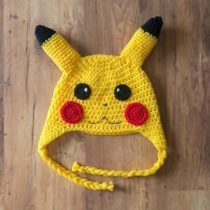 Quality Pikachu Crochet Hat, Pickachu Beanie, Milk Cotton Pokemon Hat for sale