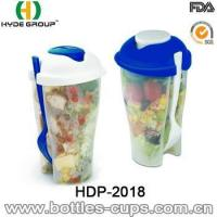 Wholesale High Quality Salad Shaker Cup with Fork (HDP-2018) from china suppliers