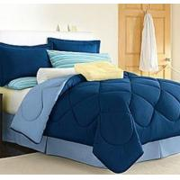 China Dorm Room In A Box Navy/Blue 10pc Set for XL Twin College Beds on sale