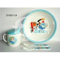 Wholesale Melamine 4pcs Feeding Sets Chicken from china suppliers