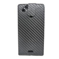 Wholesale Carbon Fiber Leather Flip Case For Sony ericsson X12 from china suppliers