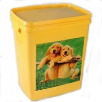 Dog Food Bowl Hinged Lid