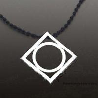 China New Tocoy Tungsten Tungsten Pendant With Round Inside FA-T3020 wholesale