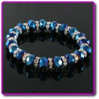Wholesale Blue AB Sparkly Stretch Bracelet from china suppliers