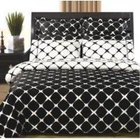 Wholesale 8pc Bloomingdale Egyptian Cotton Duvet Cover Set-White and Black from china suppliers