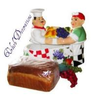 Wholesale White Chef Ceramic Bread Box from china suppliers