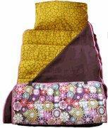 Peace, Love & Flowers - Yellow Floral Interior Nap Mat