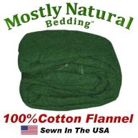 Wholesale Flannel Duvet Cover Twin Size Hunter Green Color from china suppliers