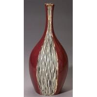 Wholesale 19-Inch Tall Ceramic Vase in Brick Red & Wood-Like Textured FinishItem #: 92246 from china suppliers