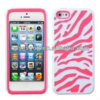 Wholesale Zebra Hybrid Silicone Hard Case Cover For iPhone 5 5G from china suppliers