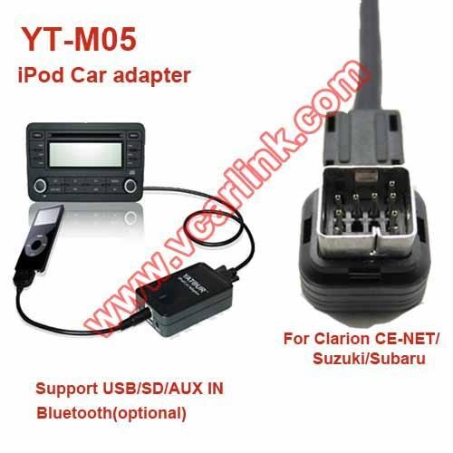 Yt M05 Clar Suz1 Yatour Ipod Car Audio Kit For Clarion
